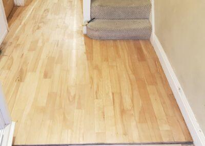 Wood sanding after finished